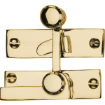 Low Profile Sash Window Quadrant Latch Fastener Polished Brass