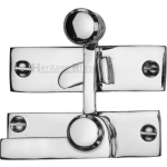 Low Profile Sash Window Quadrant Latch Fastener Polished Chrome