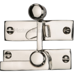 Low Profile Sash Window Quadrant Latch Fastener Polished Nickel