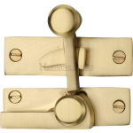 Low Profile Sash Window Quadrant Latch Fastener Satin Brass