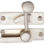 Low Profile Sash Window Quadrant Latch Fastener Satin Nickel