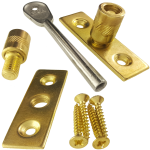 Sliding Sash Window Dual Screw Lock Pack Brass