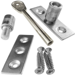 Sliding Sash Window Dual Screw Locks Satin Chrome