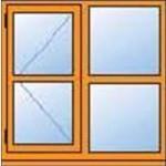 H210C 1065 x 915mm Left Hinge Cottage Window Left Hand Opener