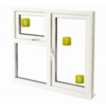 1200 x 1050 Cotswold Glazed Fully Finished White Casement Vent Fush Window RH