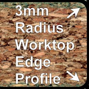 R3 28mm 30mm Worktop Trims 3mm Double Profile