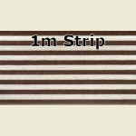 1m x 63mm Walnut Steel Metallic PVC Edge Banding