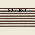 50m Walnut Steel Metallic PVC Edge Banding