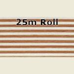 25m Beech Steel Metallic PVC Edge Banding