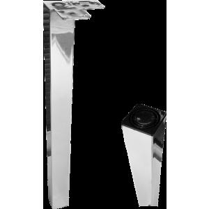 Chrome Cubist Worktop Breakfast Bar Leg