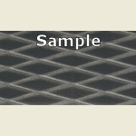 Dark Mesh Metallic PVC Edge Sample