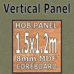 Ambre Gloss Hob Panel 1500mm