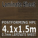 Antique Blocked Walnut Laminate Sheet 4120mm X 1510mm