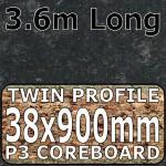 Axiom Avalon Granite Black Etched Breakfast Bar 3.6m
