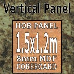 Baltic Granite Gloss Hob Panel 1.5m
