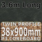 Axiom Basalt Slate Breakfast Bar 3.6m