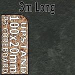 Axiom Basalt Slate Upstand 3m