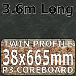 Basalt Slate Narrow Breakfast Bar 3.6m