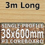 Beech Butcher Block Worktop 3000mm