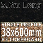 Black Granite Worktop 3600mm