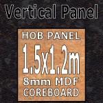 Black Quasar Hob Panel 1500mm