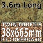 Axiom Butterum Granite Etched Narrow Breakfast Bar 3.6m