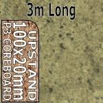 Axiom Cappuccino Stone Upstand 3m