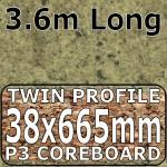 Axiom Cappuccino Stone Narrow Breakfast Bar 3.6m
