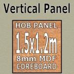 Champagne Gloss Hob Panel 1500mm