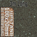 Cinder Quartz Hi-gloss Upstand 3m upstand