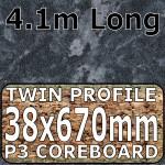 Crystal Black Worktop Breakfast Bar 4100mm