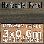 Ebony Stripwood Midway Panel 3030mm