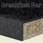 Black Sparkle Breakfast Bar 2400mm