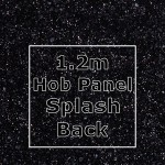 Black Sparkle Hob Panel Splashback 1220mm