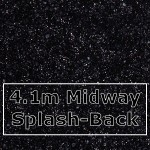 Black Sparkle Midway Splashback 4100mm