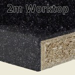 Black Sparkle Worktop 2m