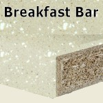 Calico Breakfast Bar 2400mm