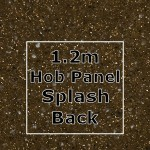 Chocolate Sparkle Hob Panel Splashback 1220mm