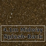 Chocolate Sparkle Midway Splashback 4100mm