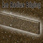 Chocolate Sparkle Radius Edging 1350mm