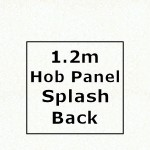 Glacier Hob Panel Splashback 1220mm