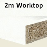Glacier Slab End Worktop 2050mm