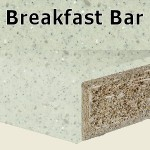 Pearl Grey Breakfast Bar 2400mm