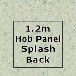 Pearl Grey Hob Panel Splashback 1220mm