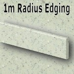 Pearl Grey Radius Edging 1020mm