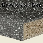 Storm Breakfast Bar 2400mm