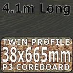 Figured Wenge Worktop Breakfast Bar 4100mm