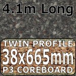 Granite Black Brown Worktop Breakfast Bar 4100mm