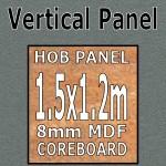 Graphite Gloss Hob Panel 1500mm