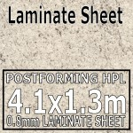 Ipanema White Laminate Sheet 4.1 x 1.3m